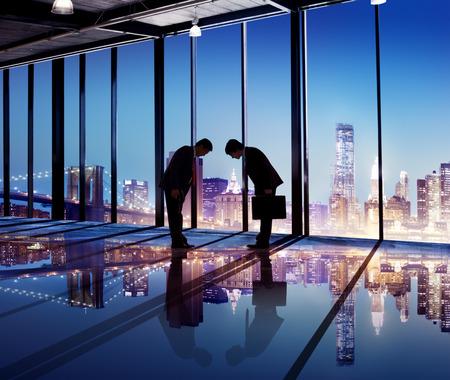social grace: Japanese Businessmen Having a Business Agreement