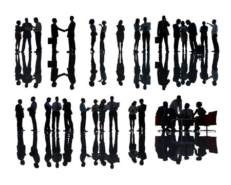 analysed: Large Group of Business People Meeting