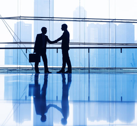 business meeting: Business people making agreement.