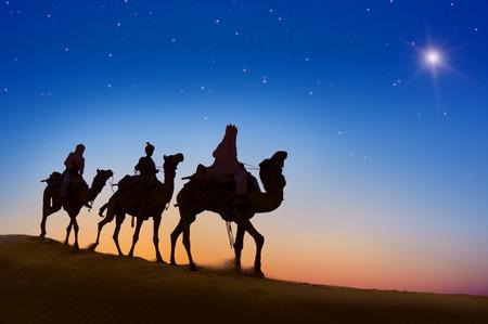 silueta hombre: Reyes Magos