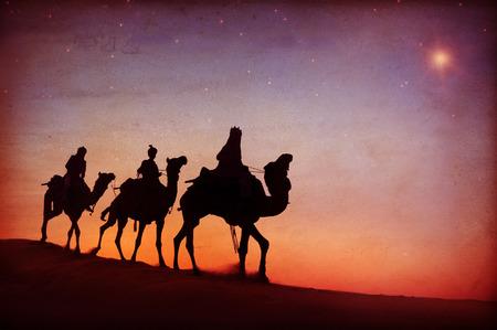 bethlehem: Three Kings Desert Star of Bethlehem Nativity Concept