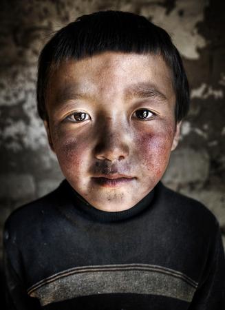independent mongolia: Portrait of a Mongolian Boy. Western Mongolia, Mongolia.