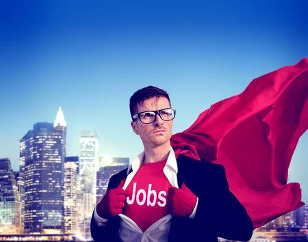 empowerment: Jobs Strong Superhero Success Professional Empowerment Stock Concept