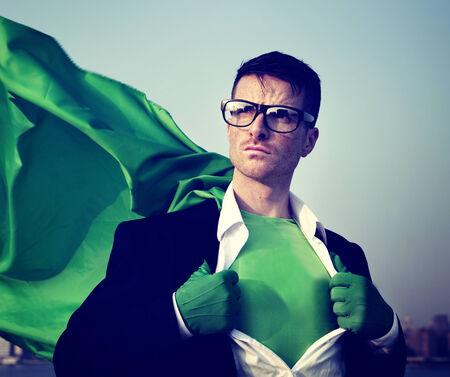 transforming: Strong Superhero Businessman Transforming Concepts