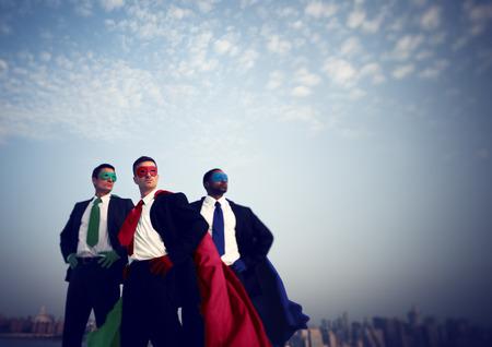 superheroes: Businessmen Corporate Superhero City Concept