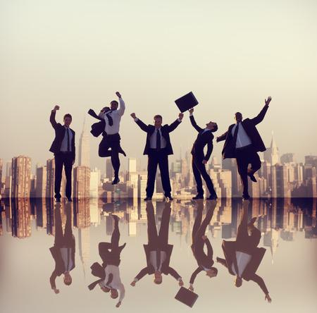 business diversity: Business People Corporate Success City Concept