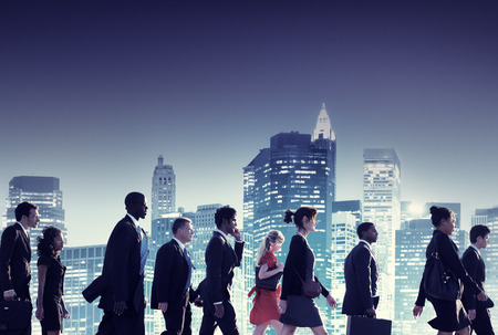 Business People New York Commuting Concept Stock Photo