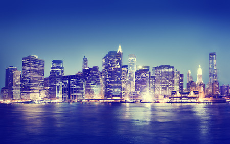 New York City Panorama Night Concept