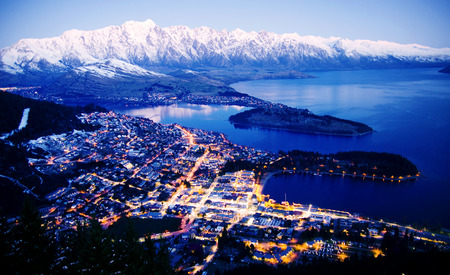 Mountain Cityscape Lake Beautiful Travel Destinations Concept