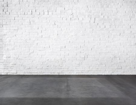 Zimmer Aus Ziegelmauer und Betonboden Standard-Bild - 34402065