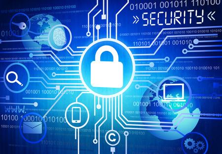 imagen: Imagen generada digitalmente Concepto de Seguridad Online Foto de archivo