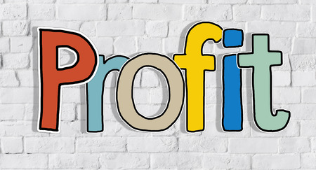 Profit Word Concepts Isolated on Background photo