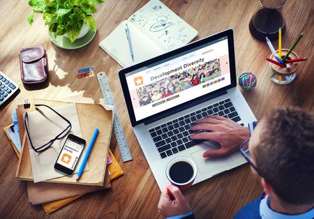 Digitale Online Internet Browsing Ontwikkeling Diversiteit Stockfoto