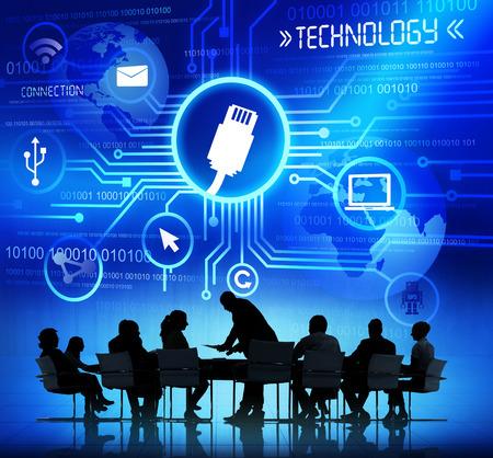 personas trabajando: Conceptos de negocios Pueblo Trabajador y Tecnolog�a