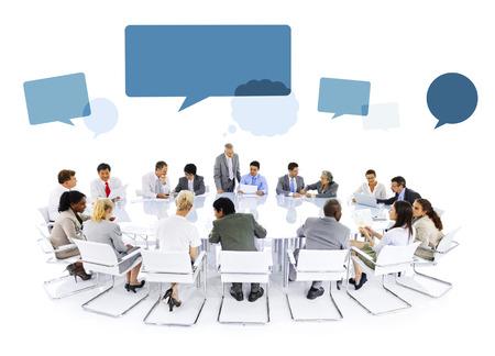 global partnership: Multiethnic Group of Business People Meeting