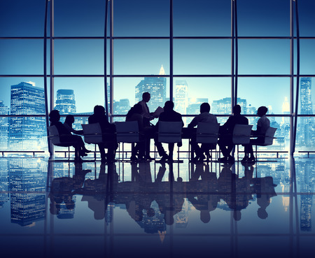 empresarial: Reunión de negocios en la Oficina de la Ciudad de Nueva York