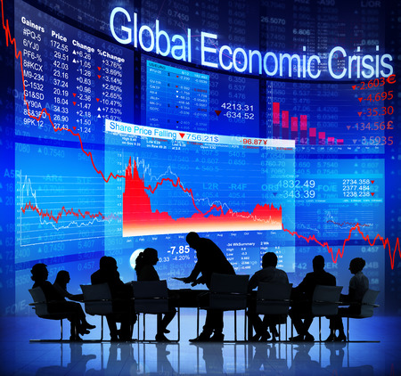 Global Economic Crisis 版權商用圖片