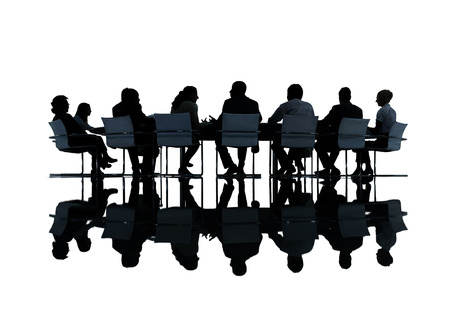 Group of Business People Meeting Stock Photo