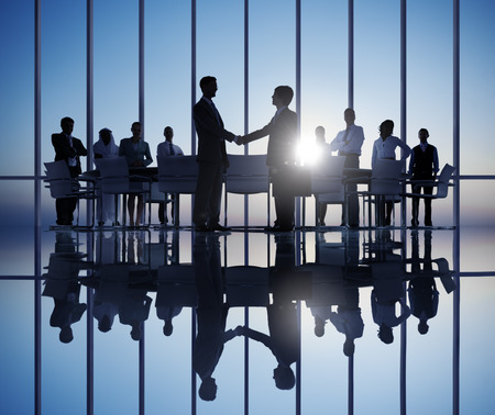 social grace: Group of Business People Meeting Stock Photo