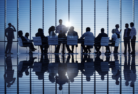 бизнес: Бизнес-группа на совещании