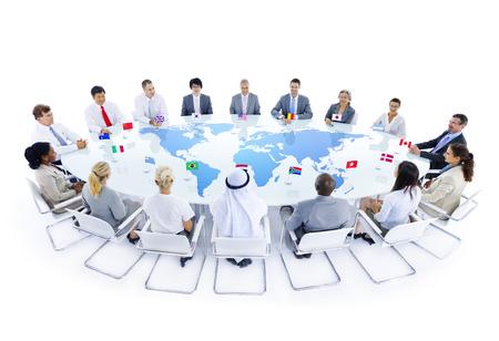 banderas del mundo: Global Business Meeting