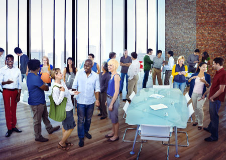 multiracial groups: Diverse Group of Business People Socializing
