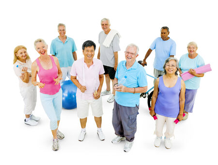 Senior Adult staying fit photo