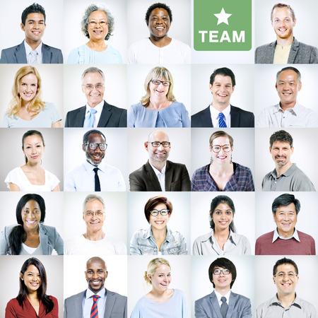 viso uomo: Ritratti di multietnica Diverse Business People Archivio Fotografico