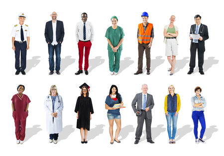 Multi-Ethnic Group of People and Diverse Jobs Concept photo