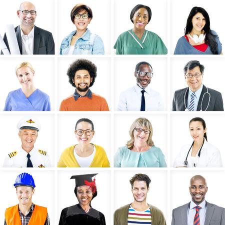 多民族の混合職業の人々 の肖像画