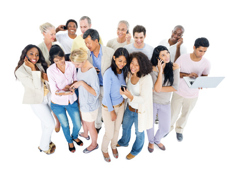 group search: Large Group of People Working Stock Photo