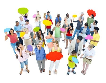 Social interactions and communications Stock Photo