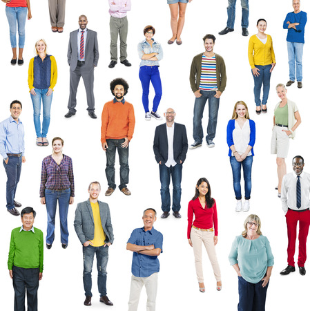professional occupations: Group of Multiethnic Diverse Colorful People Stock Photo