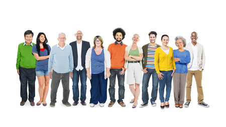 Group of Multiethnic Diverse Colorful People Banco de Imagens