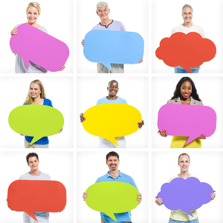 speak bubble: Speech Bubbles Stock Photo