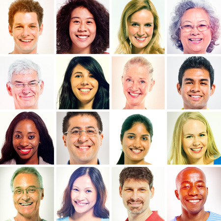 multiple ethnicities: faces