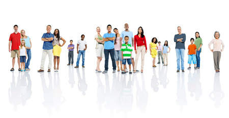 personas saludables: Gran grupo de personas