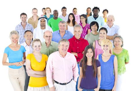 large: large multi-ethnic group of people