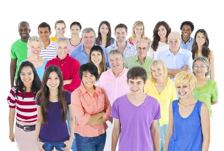 Große multi-ethnischen Gruppe von Menschen, Standard-Bild - 35332983