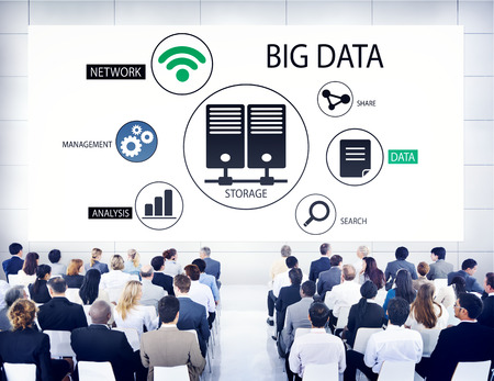 Diverse Business People in a Seminar About Big Data Stock Photo