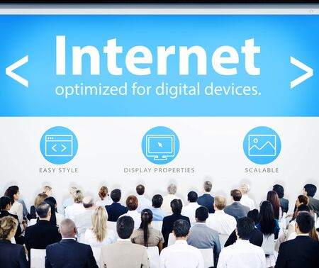 Business People Corporate Seminar Conference Internet Concept photo