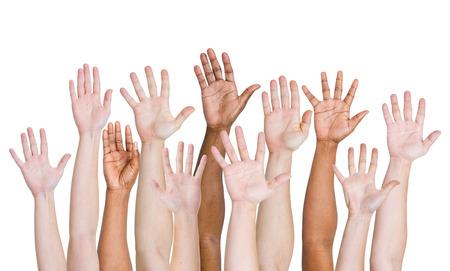 Hands up. photo