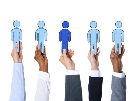 Zakenmensen en individualiteit Concept