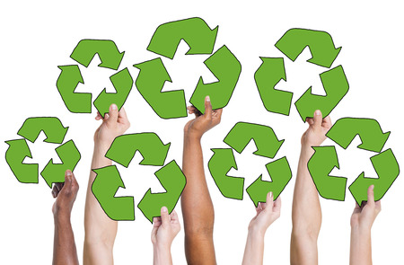 recycling symbol: People Holding Recycling Symbol and Concepts