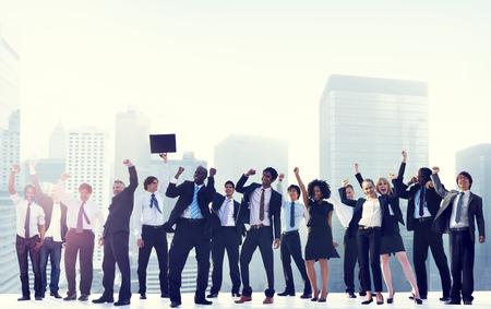 Business People Corporate Celebration Success City Concept Stock Photo