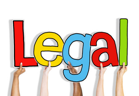 rightful: Legal Allowed Rightful Approve Lawful Hands Up Hold Concept Stock Photo