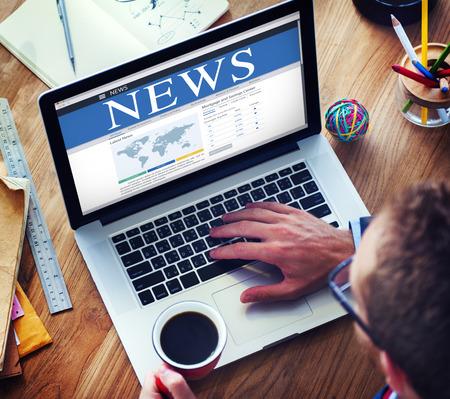 news update: Digital Online Global News Update Concept