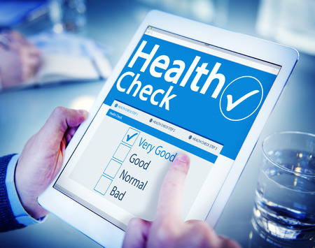 Digital Health Check Healthcare Concept
