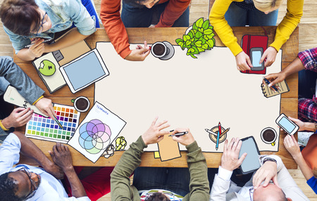 creativity: Diverse People Working and Copy Space