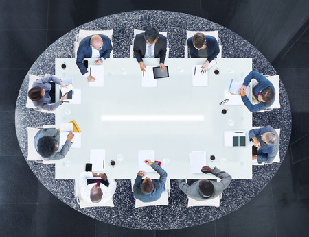 asian business people: Group of Business People Having a Meeting Stock Photo